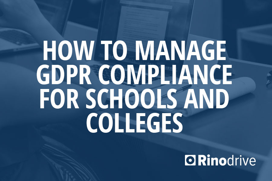 gdpr compliance for schools
